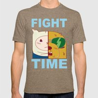 Fight Time Mens Fitted Tee Tri-Coffee SMALL
