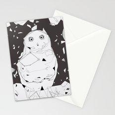 snow owl Stationery Cards