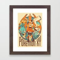 Pokemon XY Megavolution Framed Art Print
