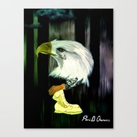 American Eagle Cries Canvas Print