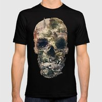 Skull Town Mens Fitted Tee Black SMALL