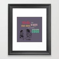 ecce bombo  2 Framed Art Print