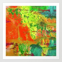 Abstract of watercolor Art Print