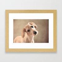 Dog puppy Framed Art Print