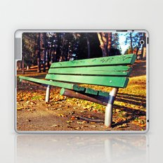 Autumn park bench Laptop & iPad Skin