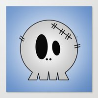 Dead Little Skull Canvas Print