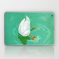 Duck diving Laptop & iPad Skin