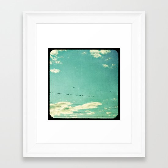 another day on the line Framed Art Print