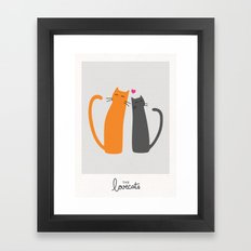 The Lovecats Framed Art Print
