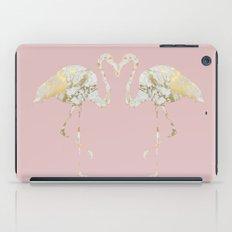 marble flamingo iPad Case