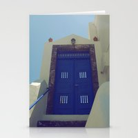 Santorini Door VII Stationery Cards