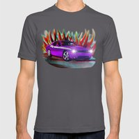 Plum Crazy Challenger Mens Fitted Tee Asphalt SMALL