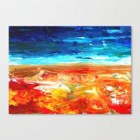 Sand Water Sea Canvas Print
