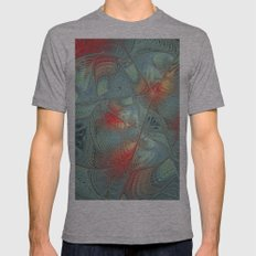 String Theory Fractal Art Mens Fitted Tee Athletic Grey SMALL