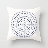 Radial - in Cobalt Throw Pillow