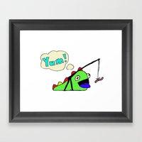 Hungry Slug Monster Framed Art Print