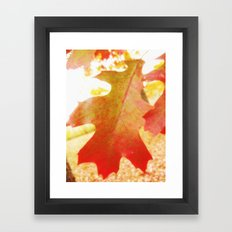 Leaf me alone Framed Art Print