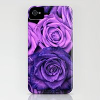 iPhone 4s & iPhone 4 Cases featuring Purple Roses by Aloke Design