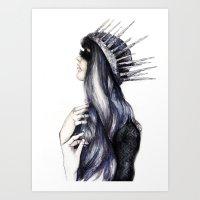 Ice Queen // Fashion Ill… Art Print