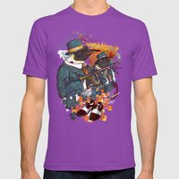 Mobster Puzzle Mens Fitted Tee Ultraviolet SMALL