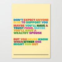 Trust Fund Canvas Print