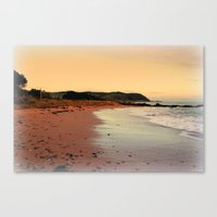 Red Sands On The Beach I… Canvas Print