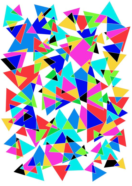 Triangular mess. Art Print