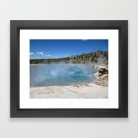 Left my heart in Yellowstone Framed Art Print