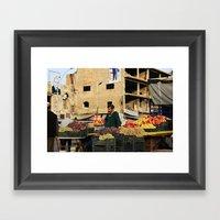 Fruit Vendor; Tripoli, L… Framed Art Print