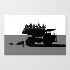 Buddha dump truck (spirituality mass production) Canvas Print