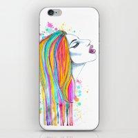 She's Like A Rainbow iPhone & iPod Skin