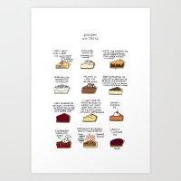 Waitress Pies Art Print