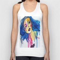 blue haired girl Unisex Tank Top