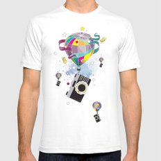 Traveling camera SMALL White Mens Fitted Tee