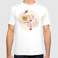 Apple of My Eye White Mens Fitted Tee SMALL