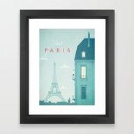 Framed Art Print featuring Paris by VintageTravelPosters…