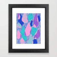 Soft Drops Framed Art Print