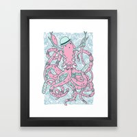 The Gentleman Squid Framed Art Print