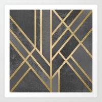 Art Deco Geometry 1 Art Print