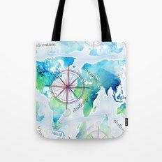 Watercolor map Tote Bag