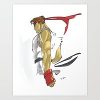 The Street Fighter Art Print