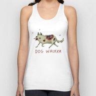 Dog Walker Unisex Tank Top