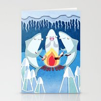 A Shiver Of Sharks Stationery Cards