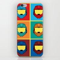 Warhol's Red Vs Blue iPhone & iPod Skin