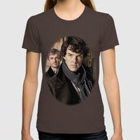 Sherlock  Womens Fitted Tee Brown SMALL