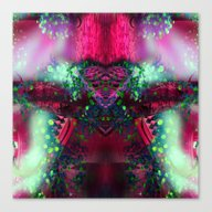 Hearted Alien Canvas Print