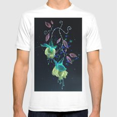 flower earrings Mens Fitted Tee SMALL White