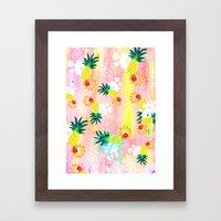 Floral Pineapple Punch Framed Art Print