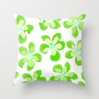 Posey Power - Electric Lime Multi Throw Pillow