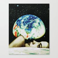 Moon View Canvas Print